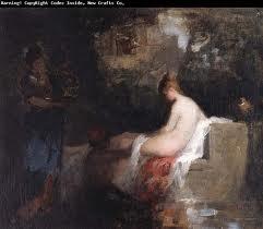 After the bath - Nicolae Grigorescu, romanian impressionist painter