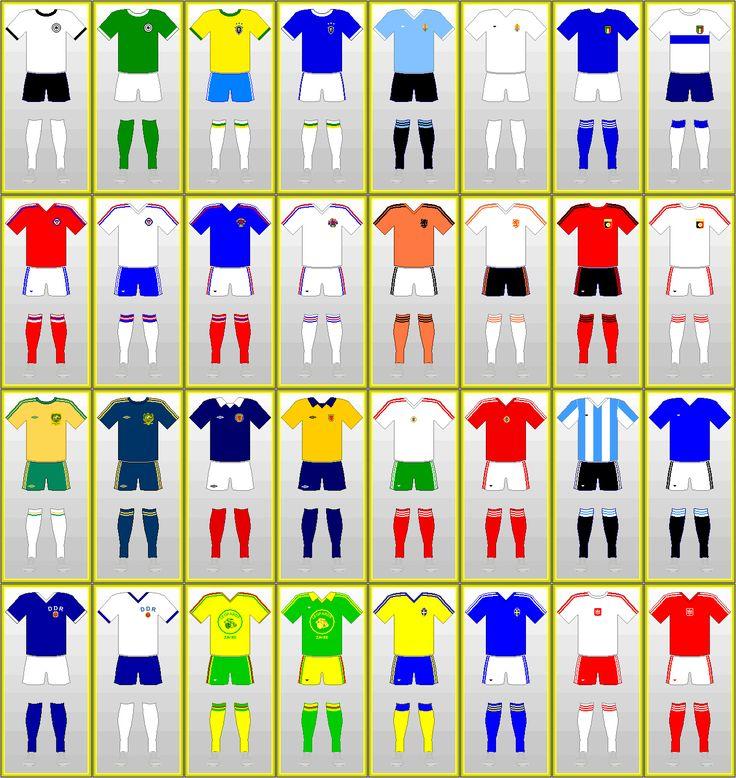 Fußball-Weltmeisterschaft Uniformen: BR DEUTSCHLAND 1974