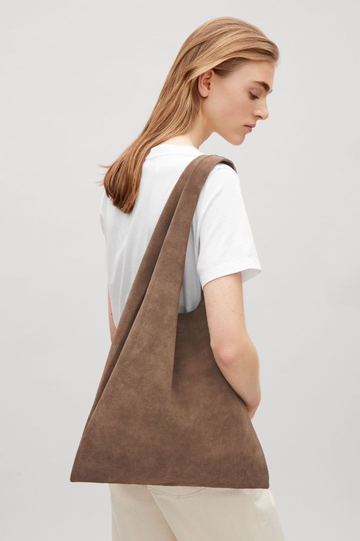COS Unstructured shopper bag in Brown