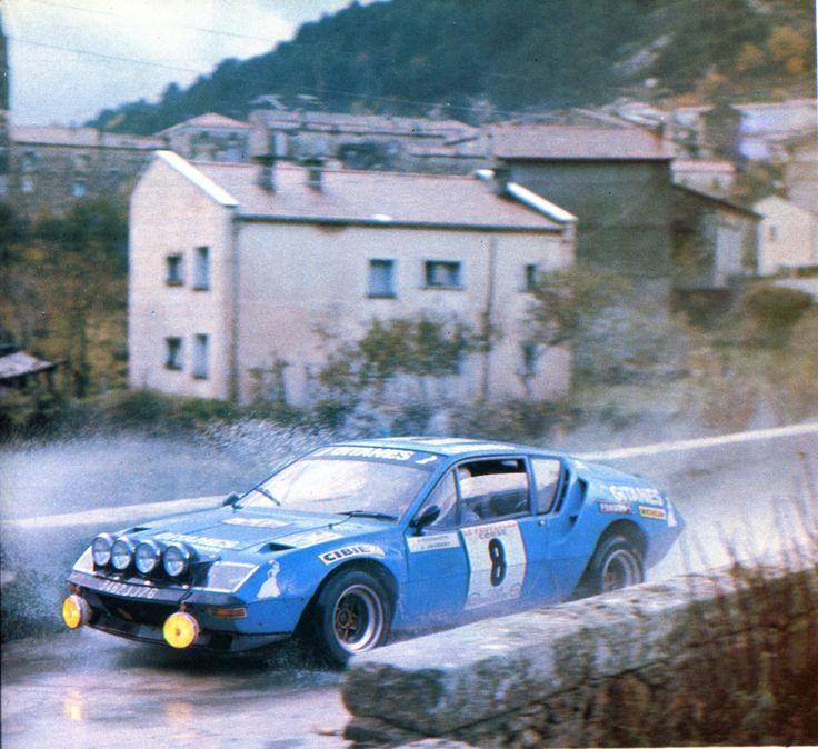 Jean Ragnotti / Jaubert (Alpine Renault A 310) 4ème du Tour de Corse 1976 - L'Automobile décembre 1976.