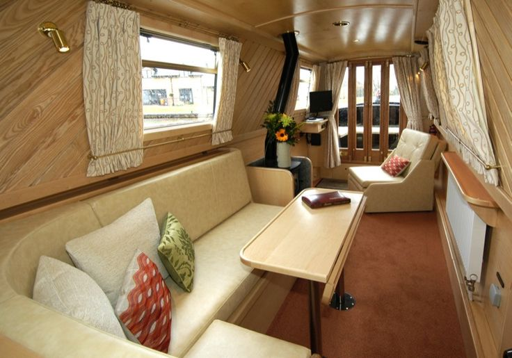 Cool Boat Interiors | Interior Designer | Walnut Designs | Narrowboat Interior Design