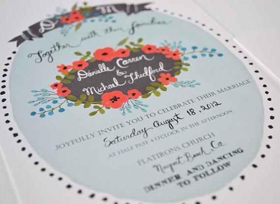 wedding invitation  かわいいデザインとフォント