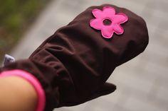Dámské softshellové rukavice palčáky (fotonávod a střih)