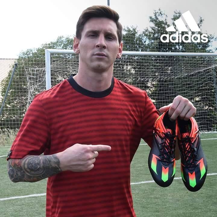 Sepatu adidas baru yang diberi nama #Messi15 khusus untuk Leo Messi. Via: Team Messi #BeTheDifference #Bola #MemeIndonesia