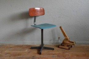 Chaise enfant vintage rétro piétement étoile style Pagholz années 60 antic kid chair design midcentury