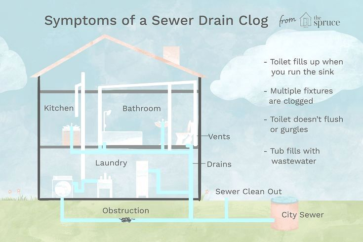 A Clogged Sewer Line Eventually Clogs All The Drains In The House Here S How To Spot Sewer Gas Smell Sewer Smell In Bathroom Bathroom Drain