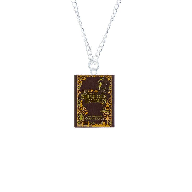 Sherlock Holmes book pendant  | View all jewellery | Natural History Museum Online Shop