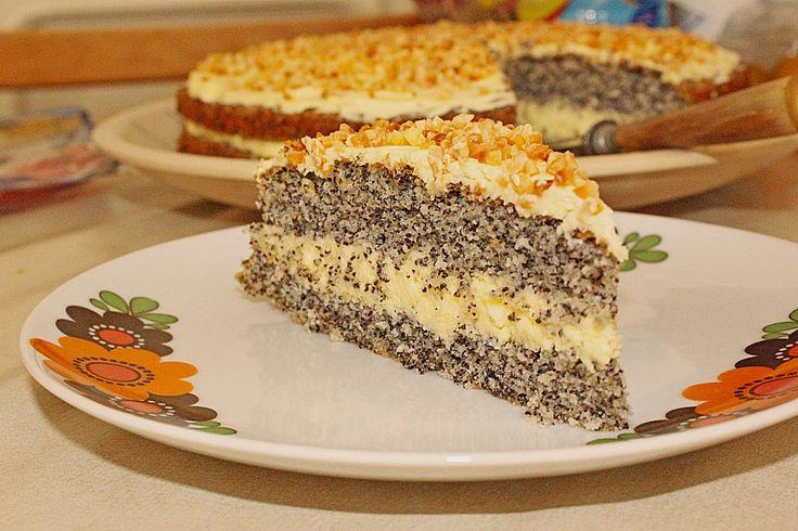 Illes super schneller Mohnkuchen ohne Boden mit Paradiescreme und Haselnusskrokant, ein sehr schönes Rezept aus der Kategorie Torten. Bewertungen: 288. Durchschnitt: Ø 4,6.