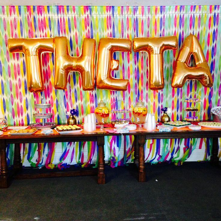 Kappa Alpha Theta's open house party.   Theta, Kappa Alpha Theta, KAO, Gamma Upsilon