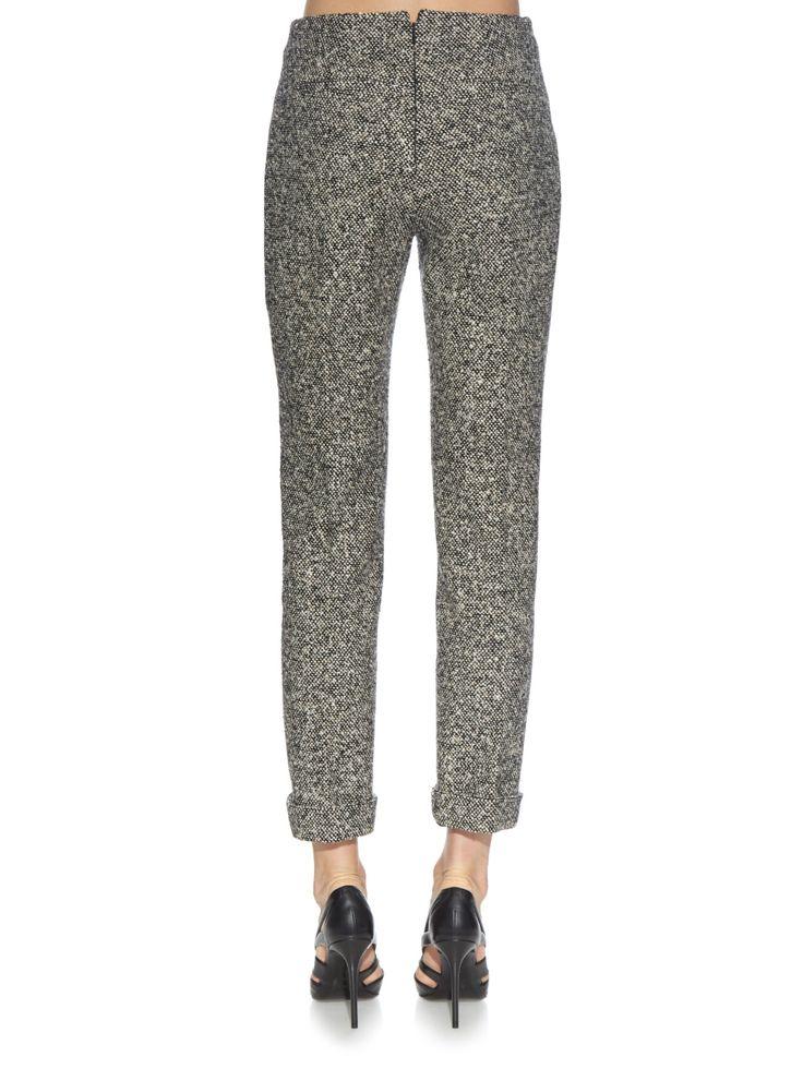 Belt-detail tweed trousers   Balenciaga   MATCHESFASHION.COM