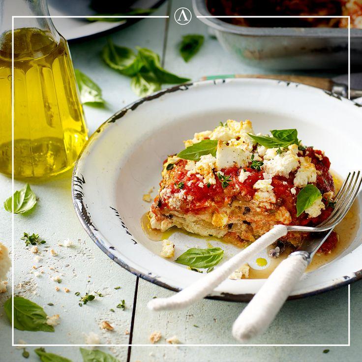 Three Cheese Eggplant Lasagne  #summerrecipes #easyrecipes #Mediterranean #cheese #Lemnos