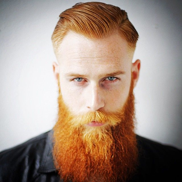daniele_deangelishair gwilymcpugh Long Red Beard Полная боковая часть волос