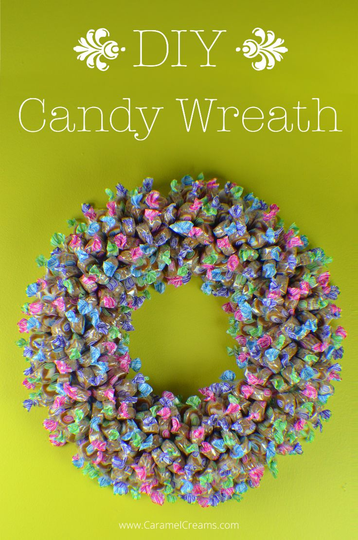 DIY - Spring Easter Caramel Creams Candy Wreath