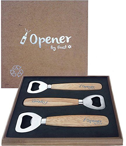 Bottle Opener - Set Of 3 Wooden Bottle Openers By Trendy Bartender - High Quality Bartender Bottle Opener - Soft Handle For Smooth Opening Of Beer Bottles, Ciders, Soft Drinks & More - Comes In Attractive Gift Box - Lifetime Guarantee!, 2015 Amazon Top Rated Corkscrews & Openers #Kitchen