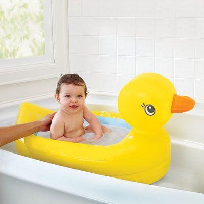 Munchkin Baignoire bébé de sécurité gonflable white hot en forme de canard 2