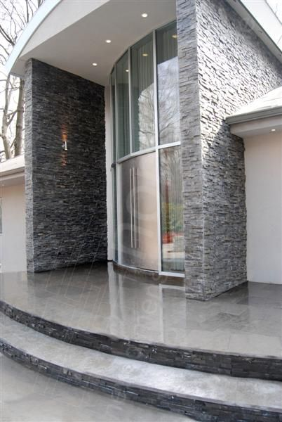 Norstone Charcoal Rock Panels for Natural Stacked Stone Veneer wall cladding
