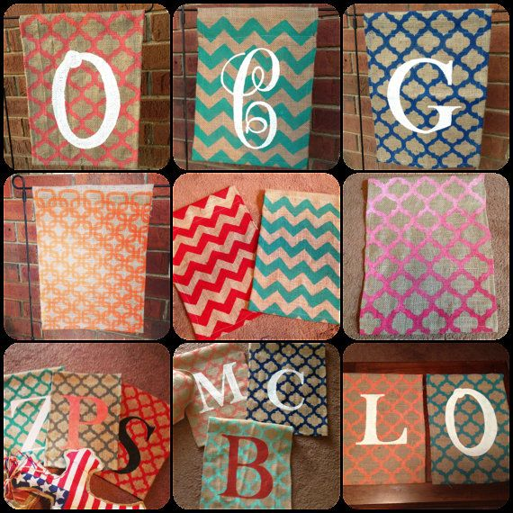Amazing Monogram Burlap Flag. Hey, I Found This Really Awesome Etsy Listing At  Http://www.