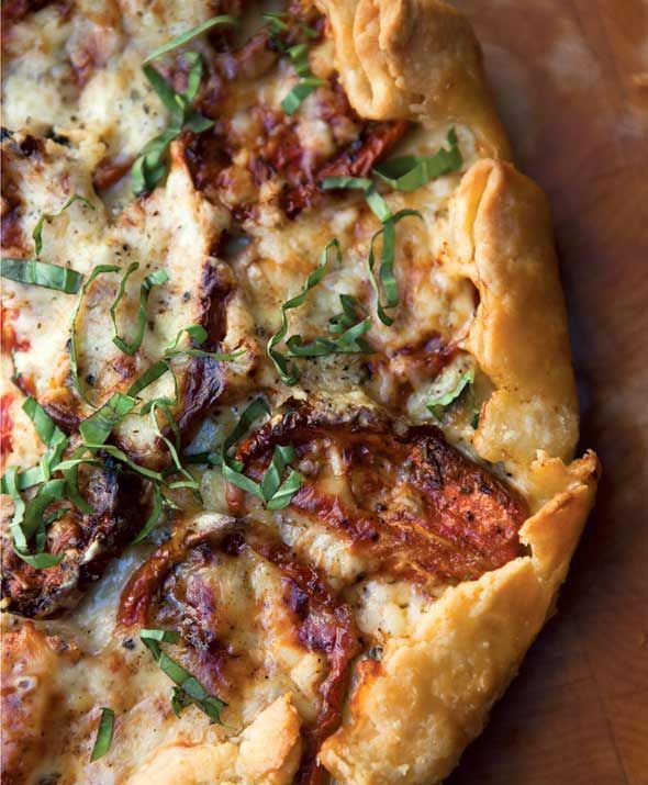 Roasted Tomato-Basil Tart with St. George Cheddar from Leite's Culinaria