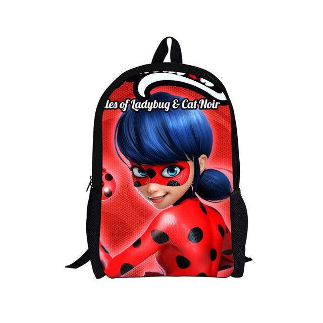 2017 New School Bags Backpack Children Schoolbags For Teenagers Boys&Girls Miraculous Ladybug and Cat Noir School Book Bag Kids