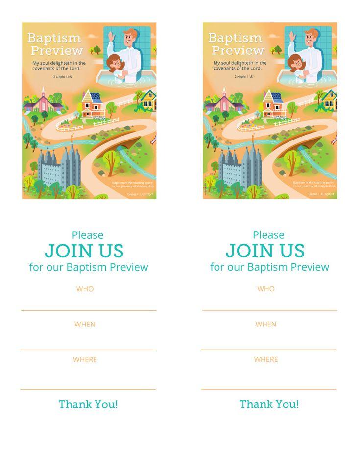 Blank Invitations copy Baptism, The covenant, Lds baptism