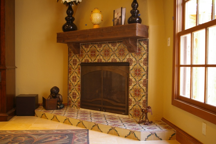 Rustic, Distressed, Wood Mantle, Southwestern Fireplace, Rustic Fireplace