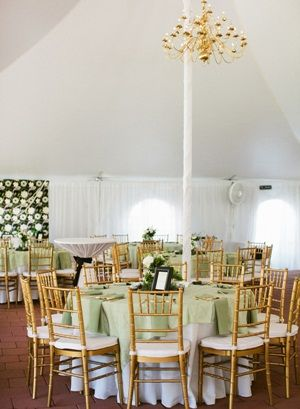 Reception Tent With Gold Chandelier1