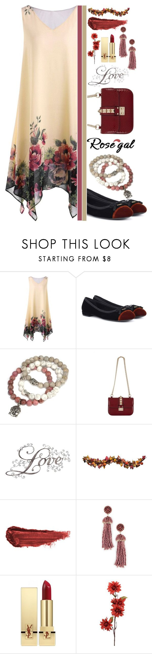 """""""Rosegal Contest ♥"""" by av-anul ❤ liked on Polyvore featuring Prada, Tyler Mackenzie Designs, Valentino, Improvements, By Terry, Sole Society and Yves Saint Laurent"""