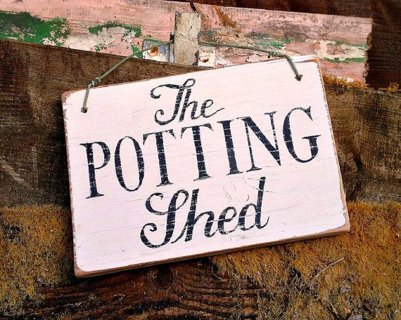 Garden sign handpainted  vintage English by HollyScobleDesigns, £18.00