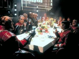 Dinner with the Klingons.  (Still from film) 'Star Trek VI - The Undiscovered Country'