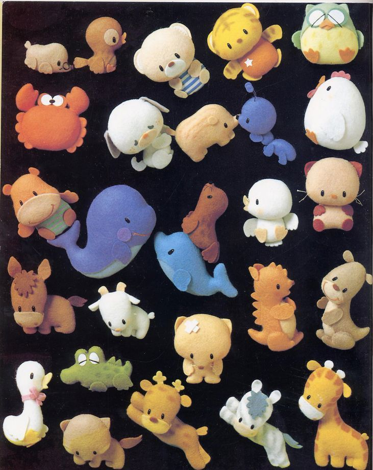 Cartamodelli e schemi per animali di pannolenci | Animaletti in pannolenci | Foto