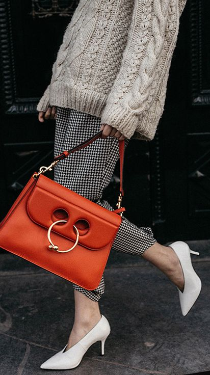 j.w. anderson bag | mixing prints and textures | fashion street style details