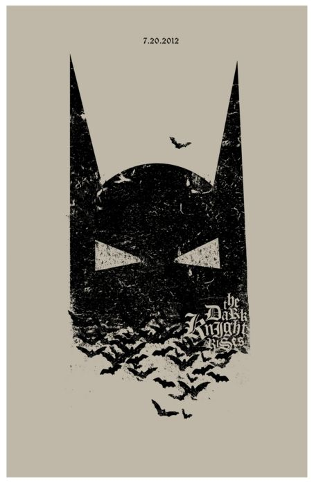 The dark knight rises minimal movie poster