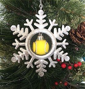 Snowflake Tennis Ornament