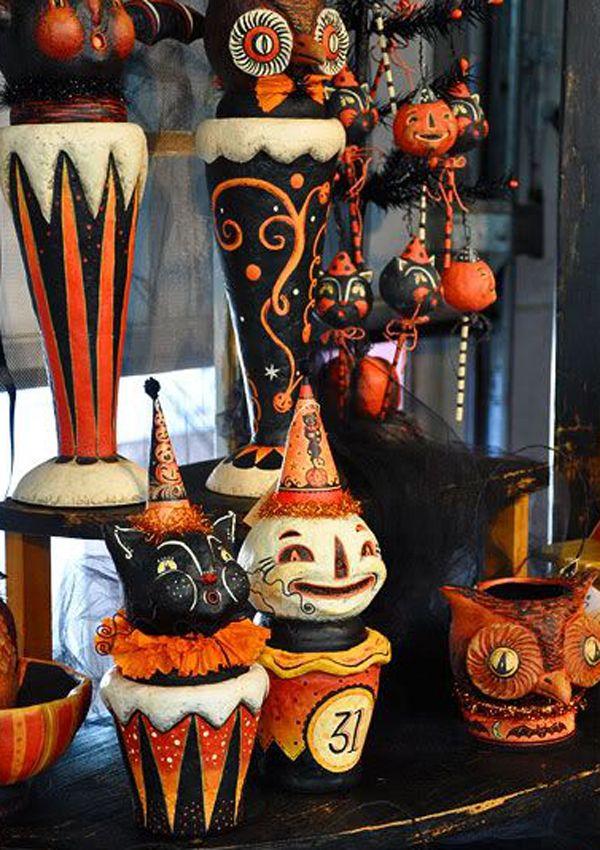 775 best Halloween artsy images on Pinterest Halloween decorations - halloween decorations vintage