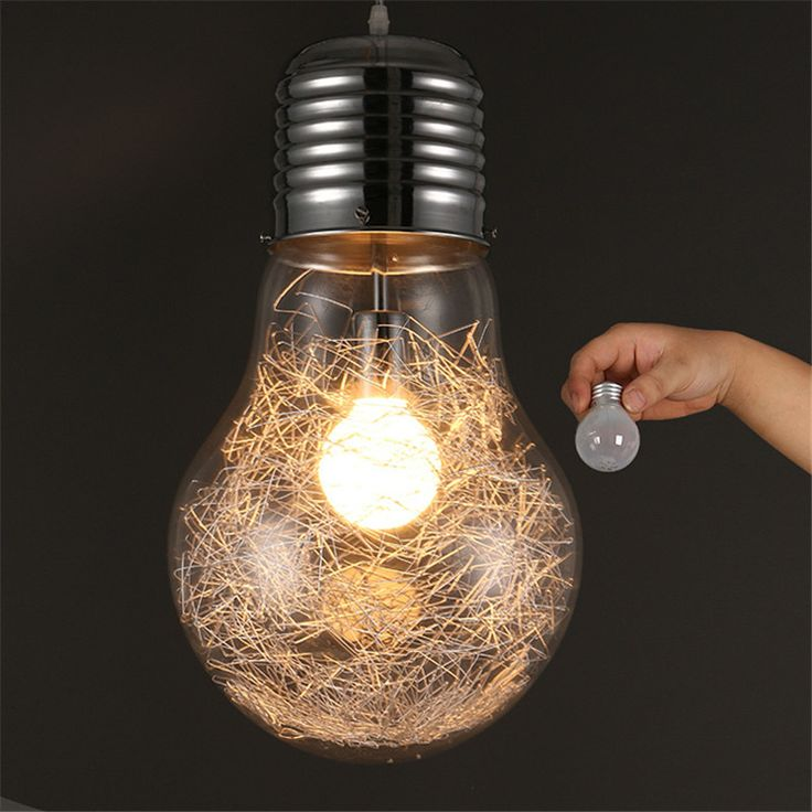 Find More Pendant Lights Information about vintage Big Bulb Pendant Lights Alumilum Glass Globe Lampe led Kitchen Light Fixtures avize droplight  lumiere home lighting,High Quality light fixtures,China modern lustres Suppliers, Cheap big bulb from Zhongshan East Shine Lighting on Aliexpress.com