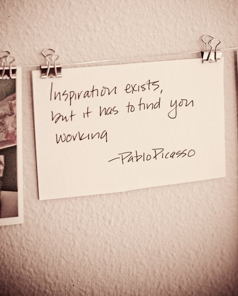 inspiration. true.: Inspirationexists, Quotes, Art, Wisdom, Thought, Inspiration Exists, Pablo Picasso, Pablopicasso