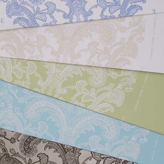 Damask in five colorways from Waterhouse Wallhangings.