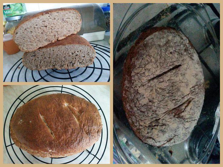 Pšenično-ražný chlebík-použita pšenično-ražná,špaldová a hladká múka...