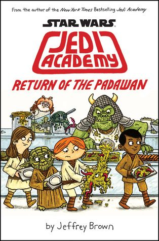 Star Wars: Jedi Academy #2: Return of the Padawan by Jeffrey Brown FIC BRO After surviving his first year at Jedi Academy, Roan Novachez thought his second year would be a breeze. This year, Roan will have to face alien poetry tests, menacing robots, food fights, flight simulation class, online bullies, more lightsaber duels, and worst of all ... a girl who is mad at him.