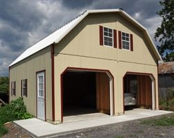 Wood Amish Built 2 Story Garage For Sale in Virginia and West Virginia