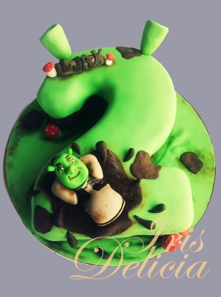 №7020 Шрек Birthday Cake Number Birthday Cakes Shrek Cake