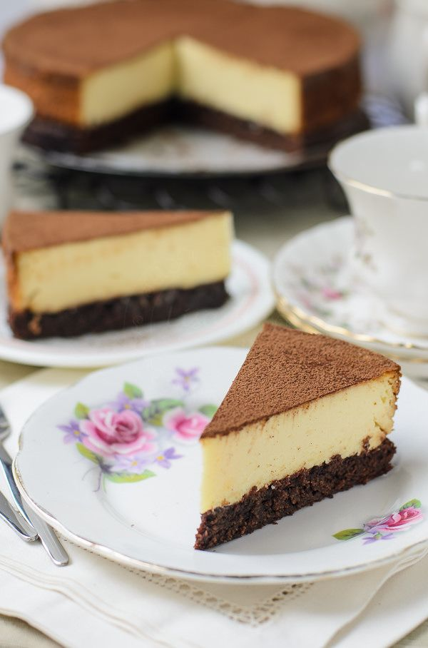 Brownie based New York Cheesecake - Lisa's Lemony Kitchen
