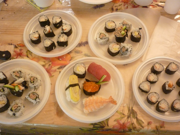 My first #sushi dishes