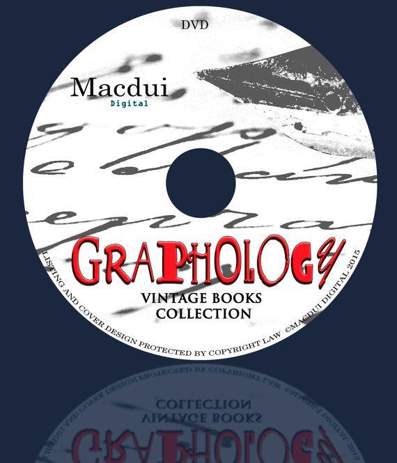 Graphology 30 PDF E-Books 1 DVD by MacduiDigital on Etsy