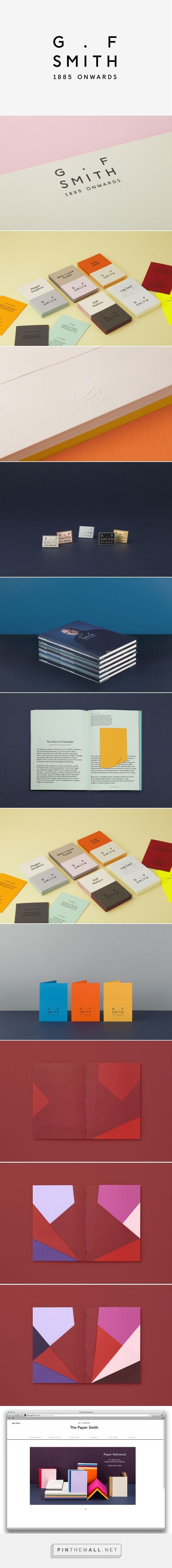 Logo and Brand Identity for G . F Smith by Made Thought - BP&O - created via http://pinthemall.net
