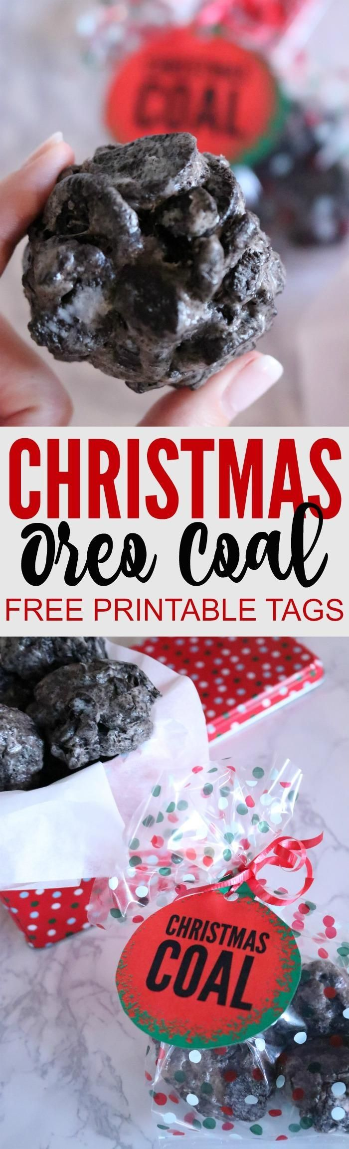 Easy Oreo Christmas Coal Recipe for Friends and Neighbors! A super cute treat and dessert idea to give away or share at the office or a holiday party!