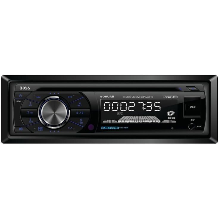 BOSS AUDIO 508UAB Single-DIN In-Dash MP3-Compatible AM-FM-CD Receiver (with Bluetooth(R))