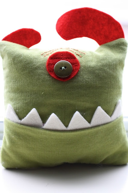 a monster tooth pillow - customized!