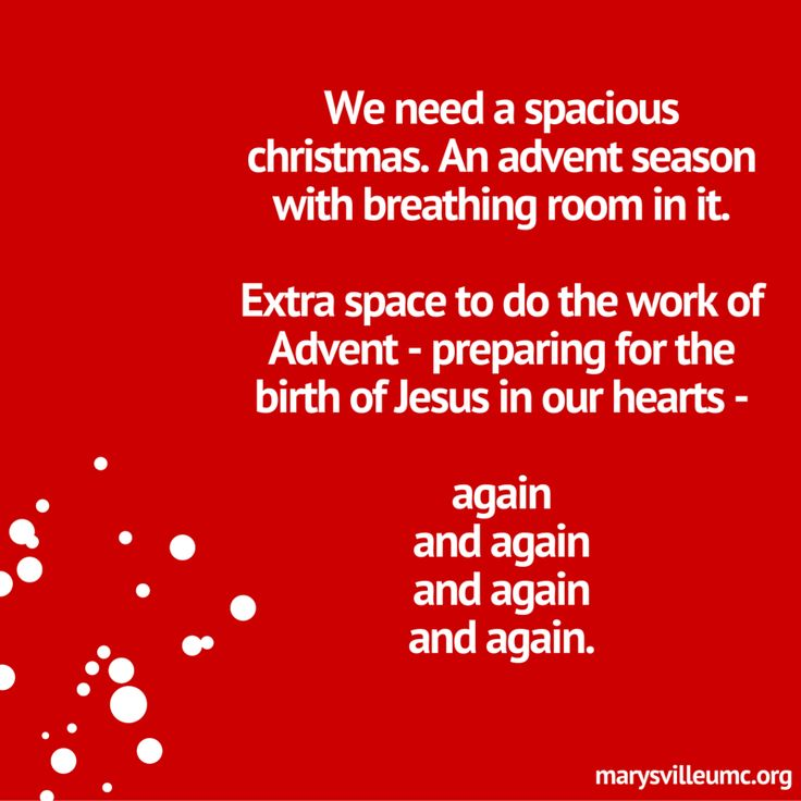spacious christmas #advent www.marysvilleumc.org