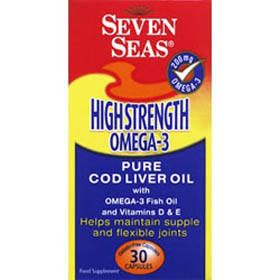 Seven Seas Cod Liver Oil Chewable Orange Orange flavoured chewable capsules containing high strength cod liver oil containing vitamin D. http://www.comparestoreprices.co.uk/vitamins-and-supplements/seven-seas-cod-liver-oil-chewable-orange.asp
